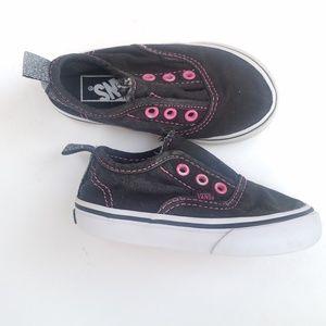 VANS slip on velcro lace free girls Vans size 6T